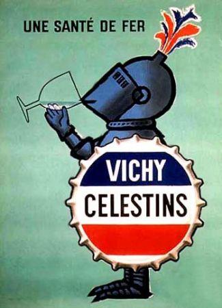 Le fer, Vichy savait déjà y faire... / Vichy, source des Célestins, 1963. / By Raympnd Savignac.