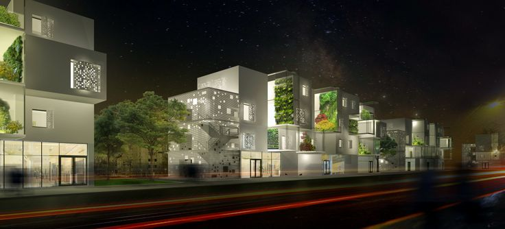 A sustainable residential quarter based on solar energy efficient dwellings, where nature is the communities' generator.