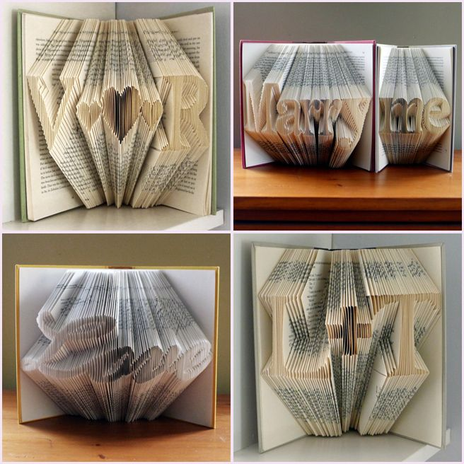 Dekoration für Hochzeit aus alten Büchern