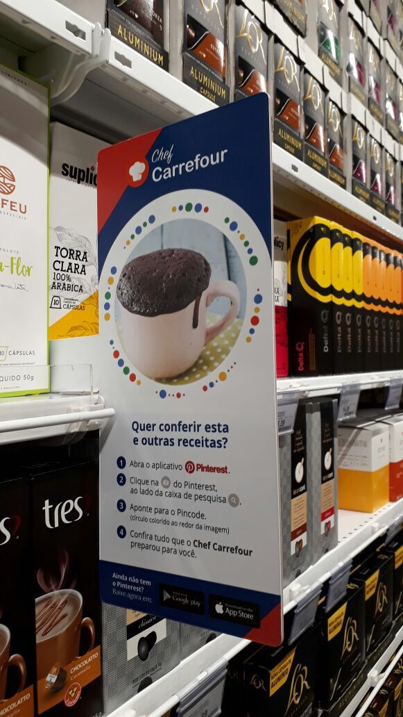 Carrefour features Pinterest pincodes in stores