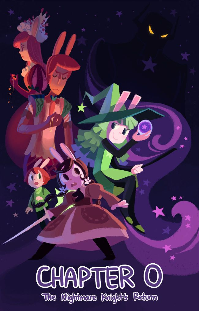 Cucumber Quest is the fun adventure of two bunny-earred siblings on a quest to save their world from the clutches of the Nightmare Knight and his seven ridiculous henchmen.  More at cucumber.gigidigi.com!