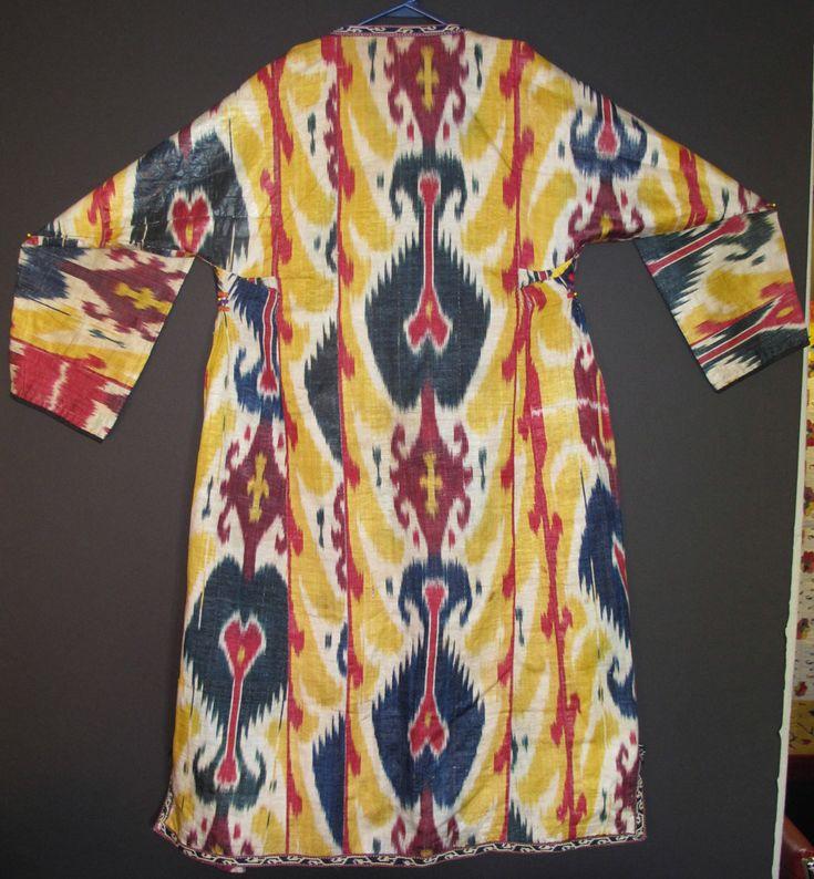 Uzbek Ikat robe 19th.... The Arts scene in San Francisco