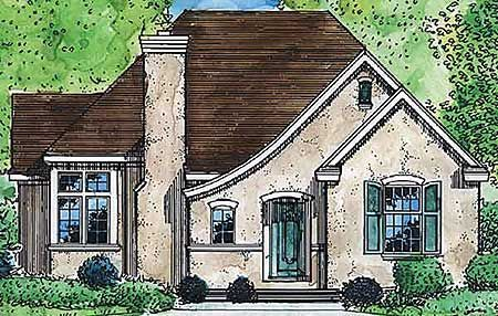 Comfortable Cottage Home Plan - 19237GT   1st Floor Master Suite, Cottage, French Country, Narrow Lot, PDF   Architectural Designs