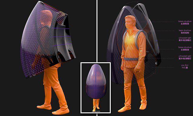 صمم مهندس صيني سترة هندسية مستوحاة من الخفافيش تتكون من الألياف على شكل أجنحة وتحتوي جهاز يحتوي الأشعة فوق البنفس Batman Concept Memphis Zoo Superhero Batman