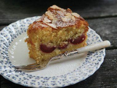 Fresh Cherry Ripple Cake | Recipe by Annabelle White