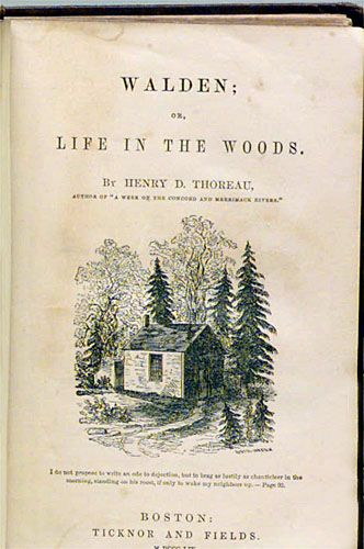 ♕ Walden by Henry David Thoreau, published in 1854 ~ common sense advice on how to live simply (much can be applied today as well) along with some of the most beautiful writing about living in nature I've ever read <3<3<3