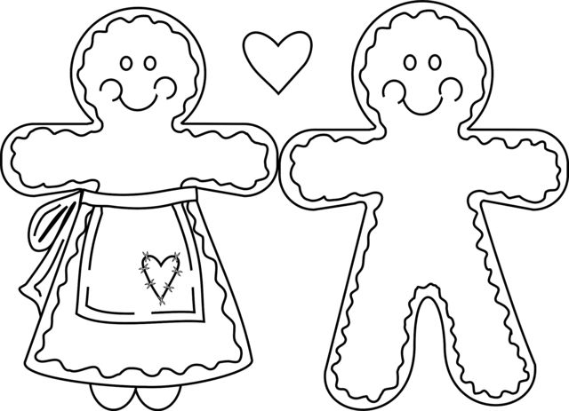 gingerbread house medium coloring pages - photo#1