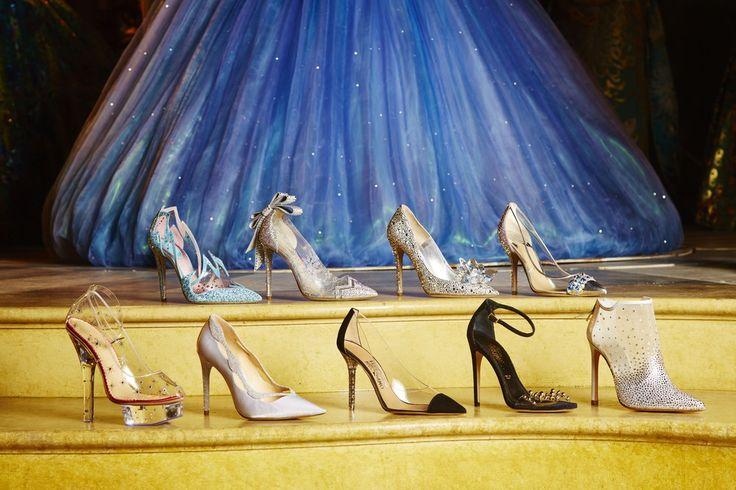 In occasione dell'uscita del film di #Cenerentola, ecco le scarpette di cristallo secondo 9 designer!