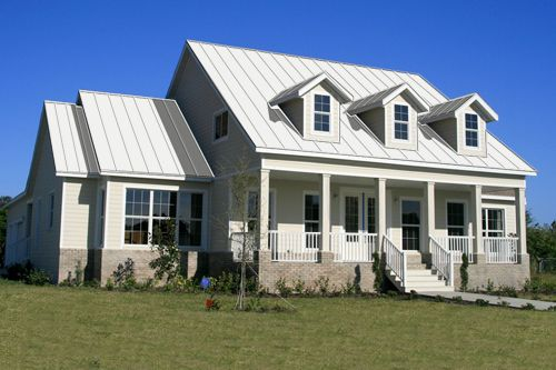 Houses With White Metal Roofs Bing Images Metal Roofed