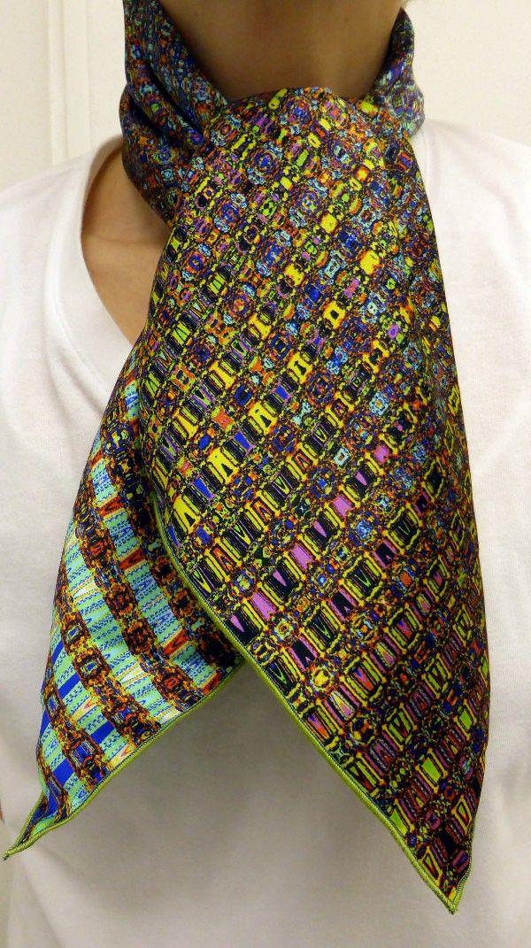Nouveau  foulard  écharpe  soie par CB FOULARDS en soie  MadeinFrance  mode   luxe  idéecadeaufemme  hautecouture  faitmain  fabricationfrancaise   foulard ... 2c4865ab65b