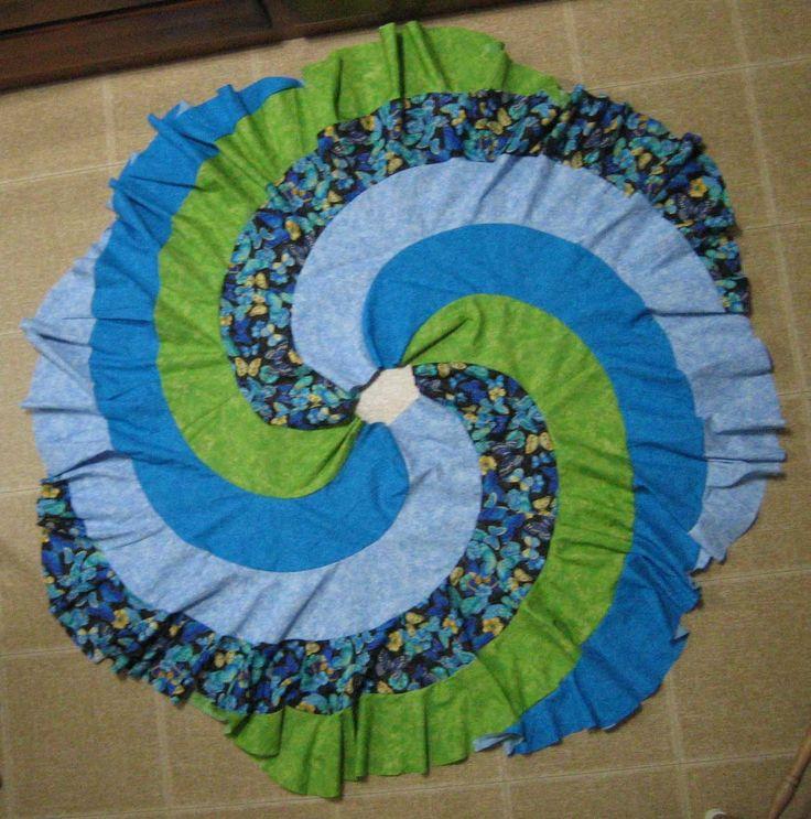 Spiral swirl skirt - free pattern