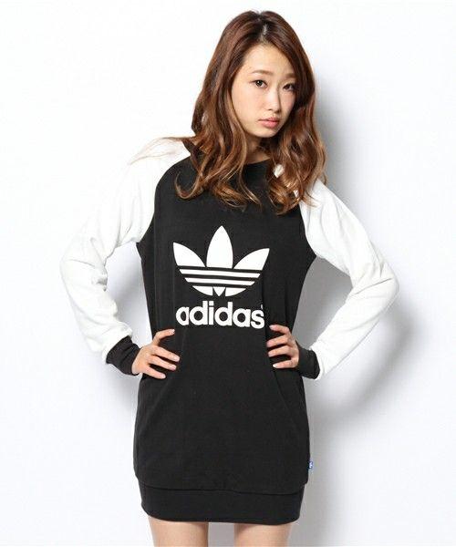 adidas Originals(アディダス オリジナルス)のオリジナルス スウェットワンピ[SWEAT DRESS](ワンピース)|ブラック