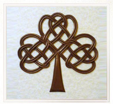Bronze Celtic Artwork - Celtic artwork in bronze with patina