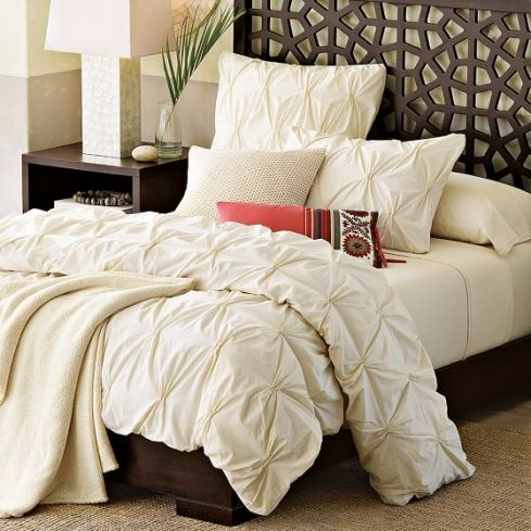 Pintuck Duvet...a definite must have for the bedroom