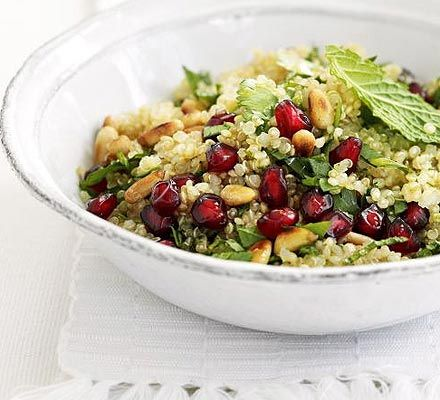 Red and Green Quinoa Salad  http://yourbdhq.blogspot.com/2009/11/red-and-green-quinoa-shocking-i-know.html