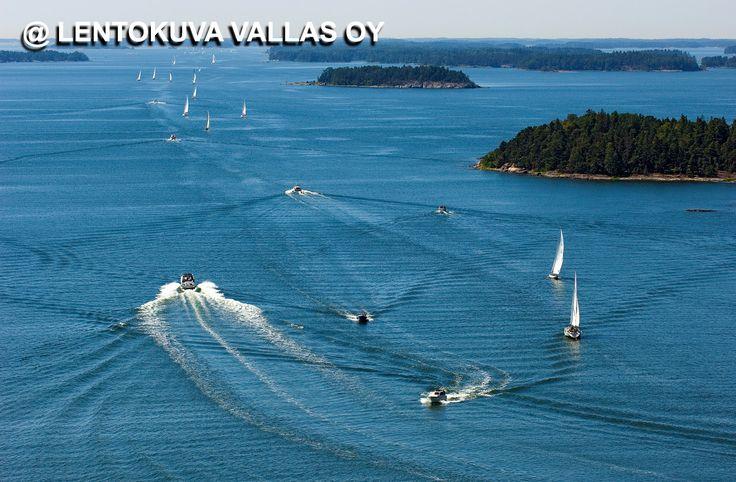 Tammisaari, saaristoa ja veneitä Ilmakuva: Lentokuva Vallas Oy