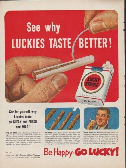 American cigarettes made Vogue