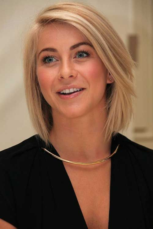 Julianne Hough Straight Bob-not too long or short. I can't decide on a haircut, & this is what I might choose.