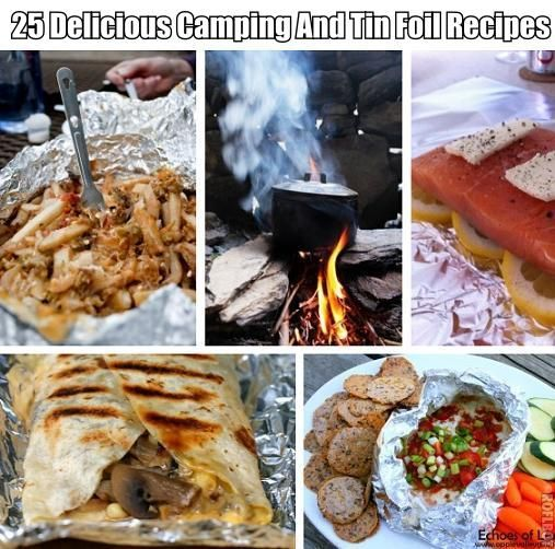 25 Delicious Camping And Tin Foil Recipes ~ Including: Tin Foil Chicken Dinner, Meatball Hoagies, Chicken Enchilada Nacho Bowls, Mixed Berry Granola Cobbler, Green Chile Cheese Fries, Spicy Taco Patties and Cheesy Potatoes Tin Foil Dinner, Campfire Quesadillas, Campfire Stew, Campfire Banana Split, Melty Cheese Dip, BBQ Chicken and Potatoes Foil Dinner, Cream of Mushroom Chicken Tin Foil Dinner