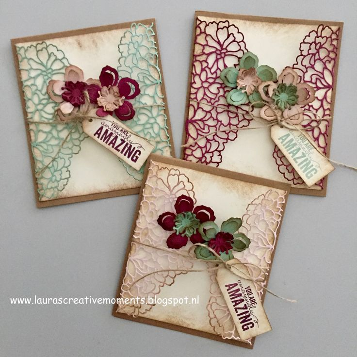These are very different, think I'll give this a shot! You are amazingly AMAZING! - So Detailed Thinlits and the Botanical Builder Framelits, Stampin' Up!