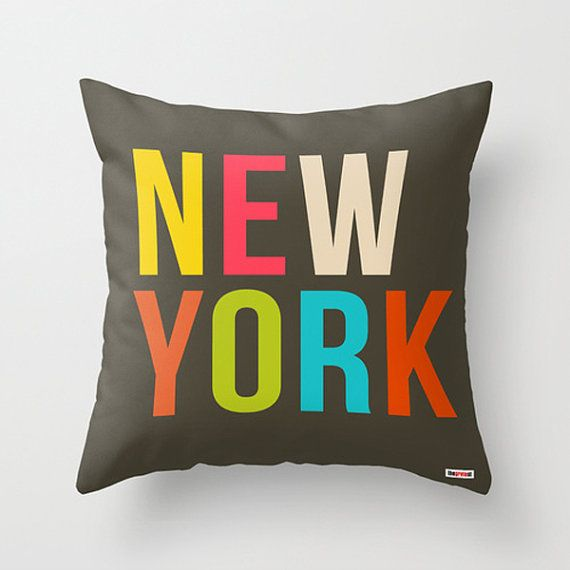 New York Decorative throw pillow cover   Modern by thegretest, $55.00