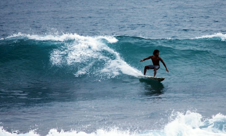 Wijaya beach surfing