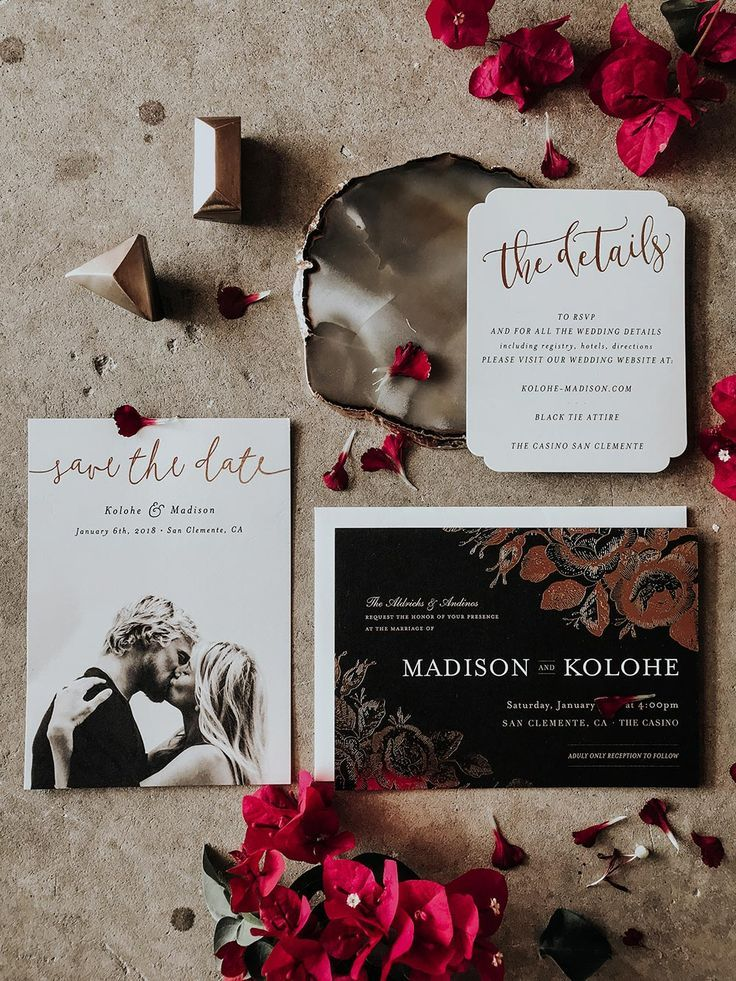 Moody Black Tie Wedding with Deconstructed Florals