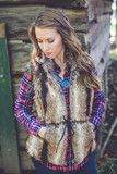 Into the Woods Faux Fur Brown Vest | Entourage Clothing & Gifts