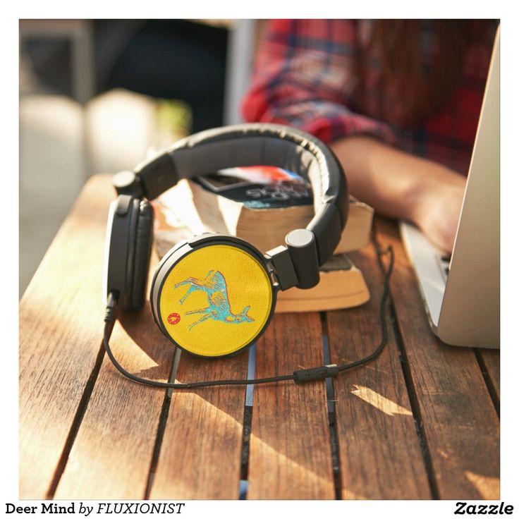 """Deer Mind"" Headphones - $62.00 Made by Keyscaper / Design: Fluxionist"