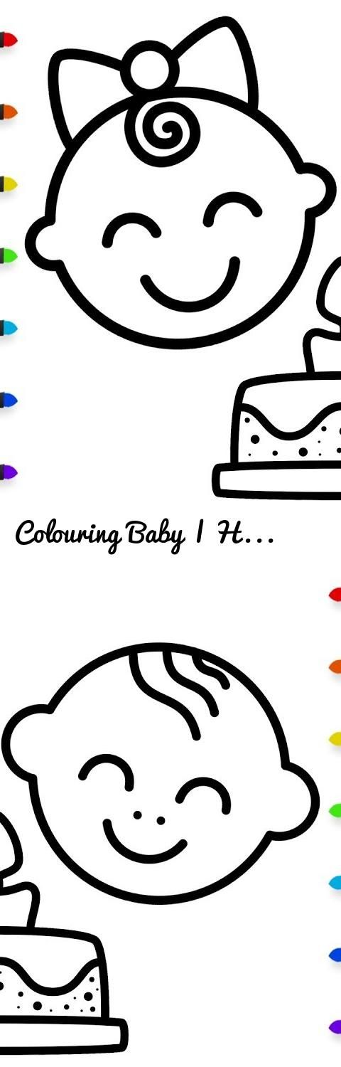 Colouring Baby | How To Draw Cake | Coloring Pages Spinner... Tags: colouring, baby, how to draw cake, coloring pages spinner, drawing, colours, colours