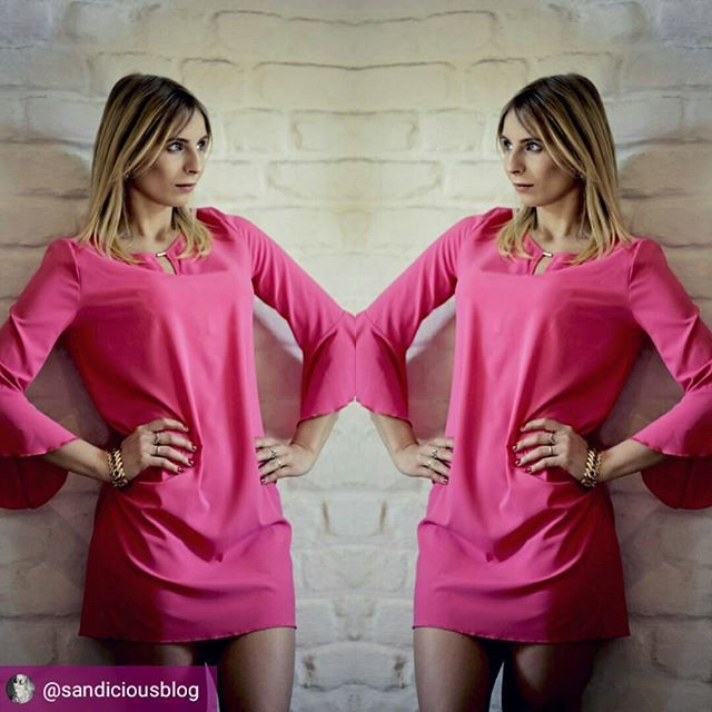 Pink it was love at first sight 🎶🎶Sandra w różowej sukience od nas #pink #dress #ood #instablog #ınstagirl #sukienka #różowy #naiastyle #zakupy