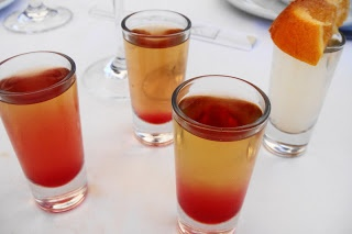 Birthday shots from Sevruga! Delicious!