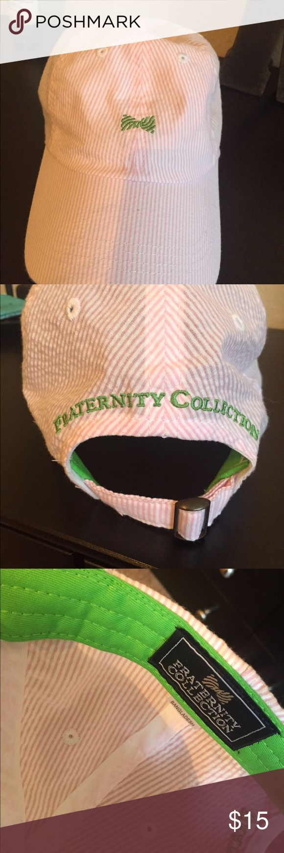 Fraternity Collection Striped Bow Hat Never worn just doesn't have the tag Fraternity Collection Accessories Hats