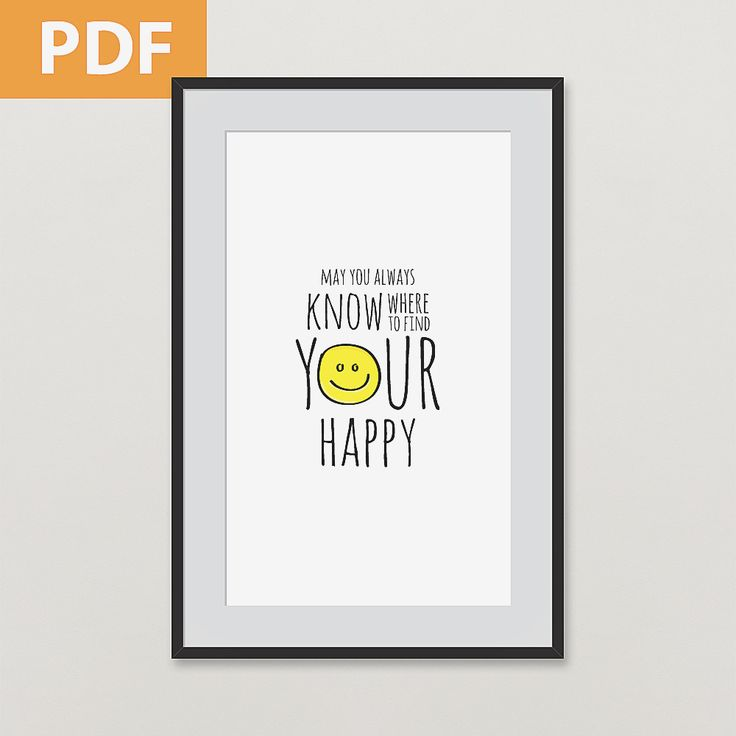 FIND YOUR HAPPY / inspirational poster / download / 2 sizes / redsandkids.com/store