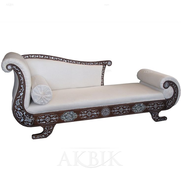 Mother of pearl moroccan syrian and levantine furniture for Buy chaise lounge sofa