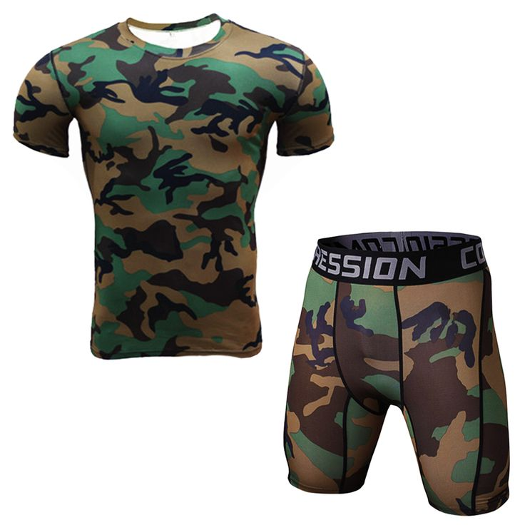 >> Click to Buy << Camouflage Men Compression T Shirts Clothings Set Workout Sportswear #Affiliate