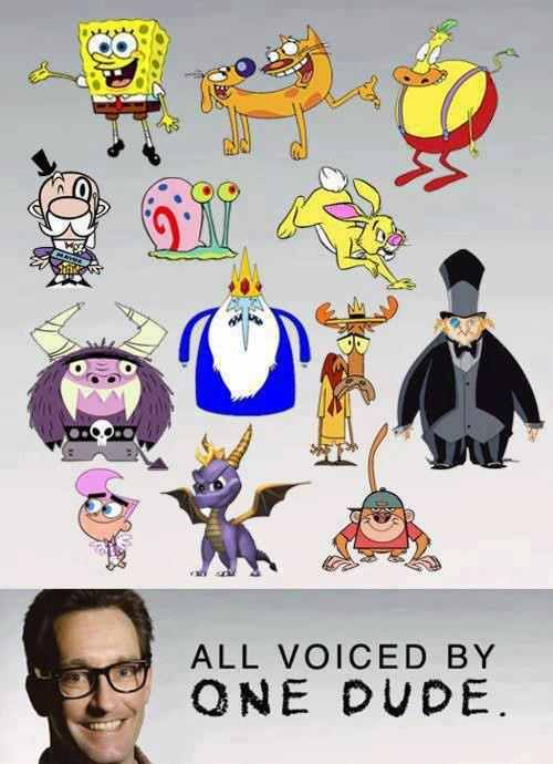 Tom Kenny (also Kenny and chimp from Codename: Kids Next Door)