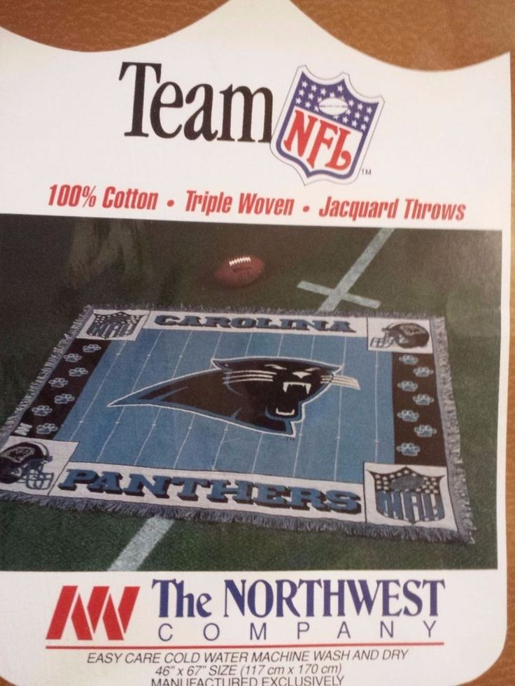 Carolina Panthers Triple Woven Throw. Cam Newton. Brand New 46in X 67in. from $28.99