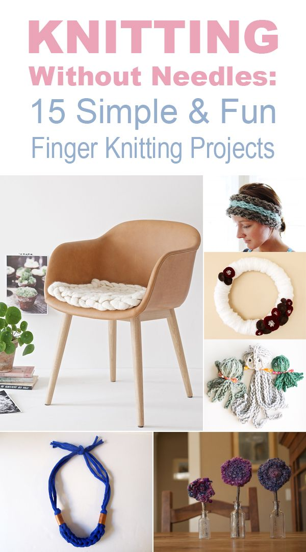 Here are 15 fun finger knit projects you can make for yourself or as a gift!