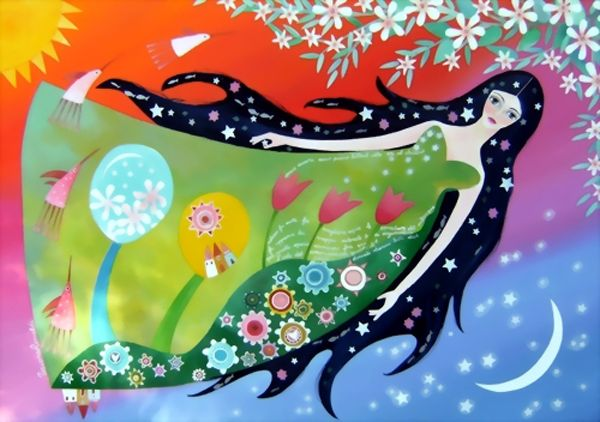 Colourful dreamlike world, paintings by Tiziana Rinaldi - ego-alterego.com