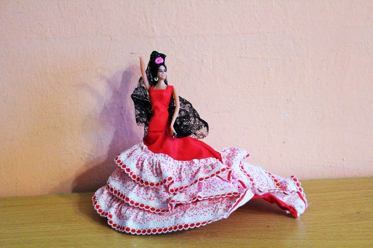 Vintage Marin Chiclana Doll in Original Box Flamenco Dancer Made in Spain Red Dress by Grandchildattic on Etsy