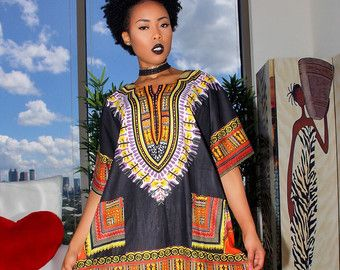 Etsy の Green African Dashiki Small by MuurSwagg