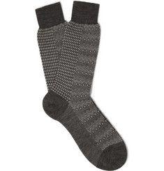 Marwood - Pantherella Patterned Merino Wool-Blend Socks MR PORTER