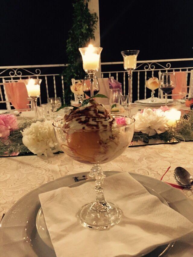 Peach Dessert, wedding table Wedding Day, peach green and white colors, Hotel Bonadies, ravello, Olga Studio, Sposa Mediterranea, Federica Wedding Planner