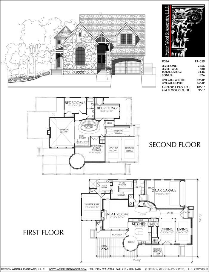 New Two Story Family Home Plans Custom House Floor Plan Blueprint