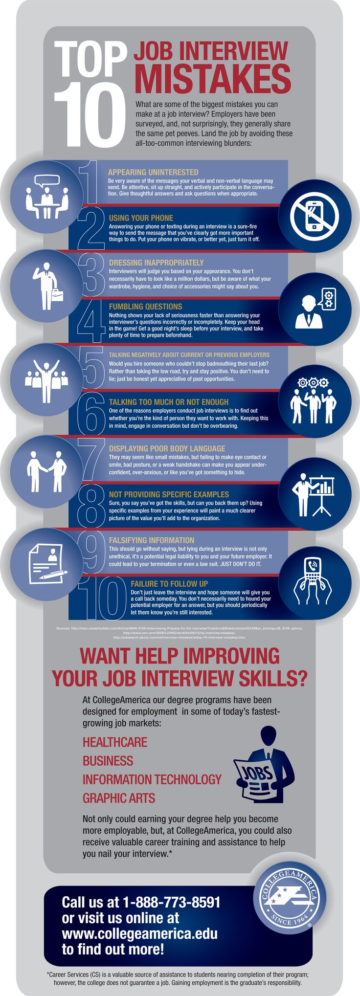 how to avoid the top 10 job interview mistakes infographic - How Long After An Interview Should You Hear Back Or Follow Up With A Call