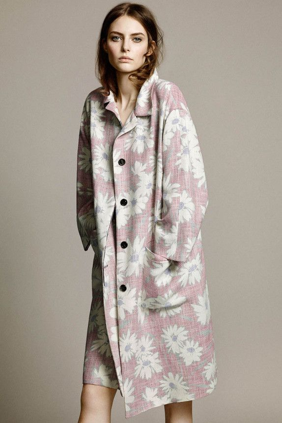 Printed duster coat - Nina Ricci Resort 2015    |     styletorch.com