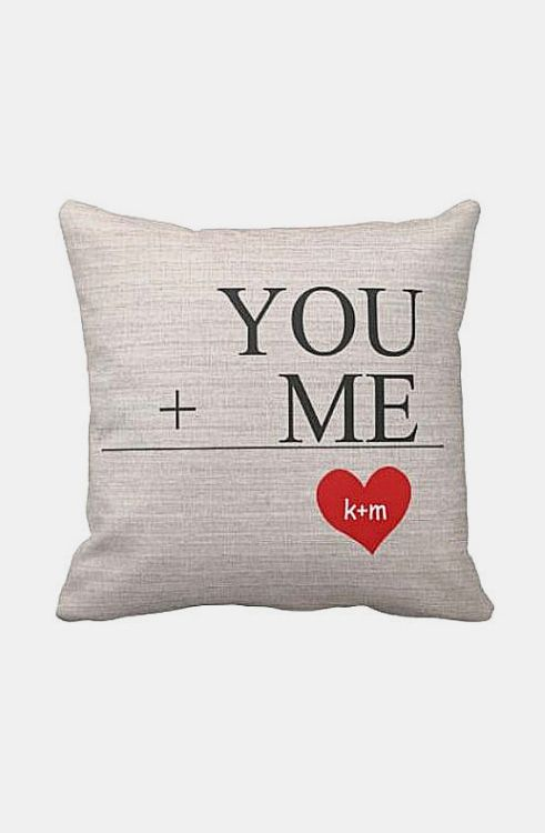 Pillow Cover Wedding Gift Cotton Anniversary