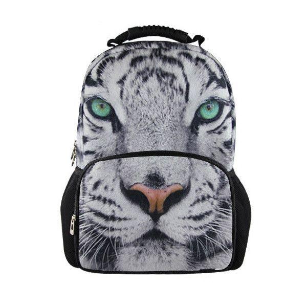 Printing Women Backbag 3D Animal Backpack <b>Cute</b> Cat Owl Tiger ...