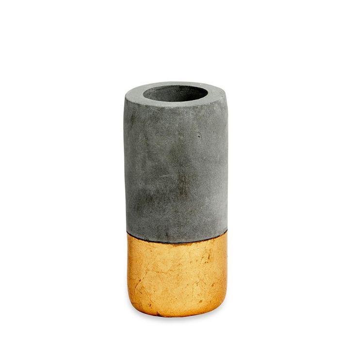Gold Concrete Tealight Holder | paperplanestore.com